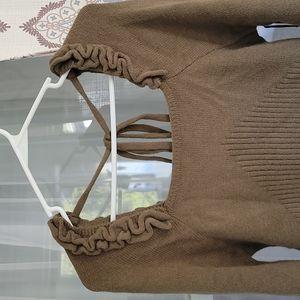 Cliché Square Neck Sweater
